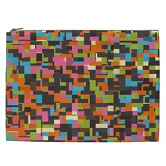 Colorful Pixels Cosmetic Bag (xxl)