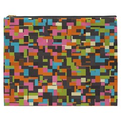 Colorful Pixels Cosmetic Bag (xxxl)