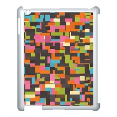 Colorful Pixels Apple Ipad 3/4 Case (white) by LalyLauraFLM