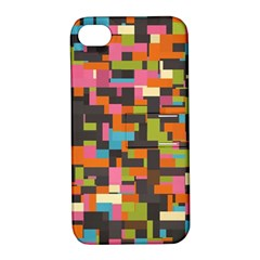Colorful Pixels Apple Iphone 4/4s Hardshell Case With Stand by LalyLauraFLM