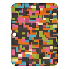 Colorful pixels Samsung Galaxy Tab 3 (10.1 ) P5200 Hardshell Case  by LalyLauraFLM