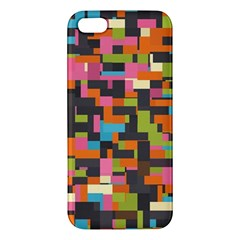 Colorful Pixels Iphone 5s Premium Hardshell Case