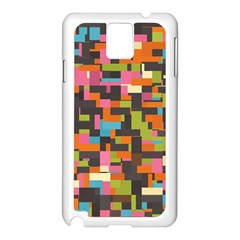 Colorful Pixels Samsung Galaxy Note 3 N9005 Case (white) by LalyLauraFLM