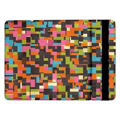 Colorful Pixels Samsung Galaxy Tab Pro 12 2  Flip Case