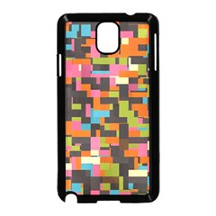 Colorful Pixels Samsung Galaxy Note 3 Neo Hardshell Case (black)
