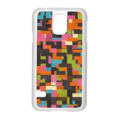 Colorful Pixels Samsung Galaxy S5 Case (white) by LalyLauraFLM