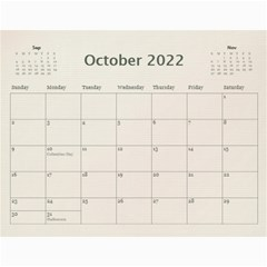 Wall Calendar 11 X 8 5 By Deca   Wall Calendar 11  X 8 5  (12 Months)   Gkfudopmcrth   Www Artscow Com Oct 2015