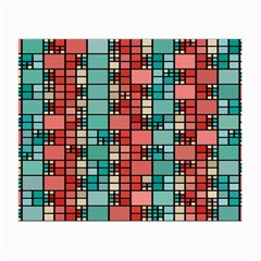 Red And Green Squares Glasses Cloth (small)