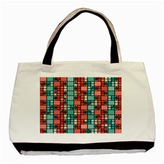 Red And Green Squares Classic Tote Bag