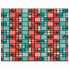 Red And Green Squares Canvas 11  X 14