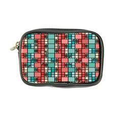 Red And Green Squares Coin Purse