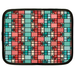 Red And Green Squares Netbook Case (xxl)