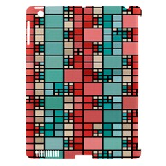 Red And Green Squares Apple Ipad 3/4 Hardshell Case (compatible With Smart Cover) by LalyLauraFLM