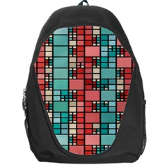 Red And Green Squares Backpack Bag