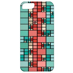 Red And Green Squares Apple Iphone 5 Classic Hardshell Case by LalyLauraFLM