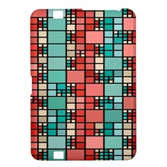 Red And Green Squares Kindle Fire Hd 8 9  Hardshell Case by LalyLauraFLM