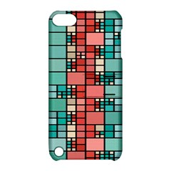 Red And Green Squares Apple Ipod Touch 5 Hardshell Case With Stand
