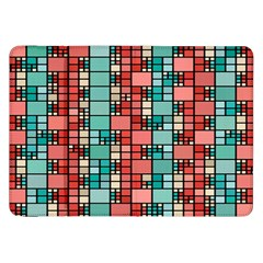 Red And Green Squares Samsung Galaxy Tab 8 9  P7300 Flip Case