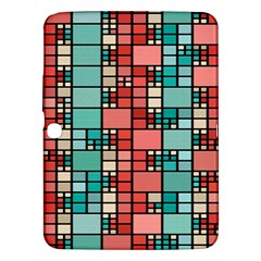 Red And Green Squares Samsung Galaxy Tab 3 (10 1 ) P5200 Hardshell Case