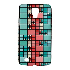 Red And Green Squares Samsung Galaxy S4 Active (i9295) Hardshell Case by LalyLauraFLM