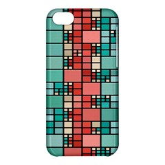 Red And Green Squares Apple Iphone 5c Hardshell Case by LalyLauraFLM