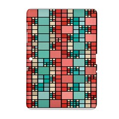 Red And Green Squares Samsung Galaxy Tab 2 (10 1 ) P5100 Hardshell Case  by LalyLauraFLM