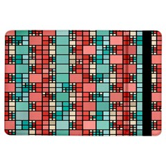 Red And Green Squares Apple Ipad Air Flip Case by LalyLauraFLM