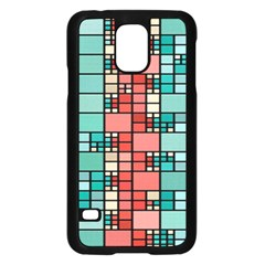 Red And Green Squares Samsung Galaxy S5 Case (black) by LalyLauraFLM