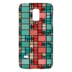 Red And Green Squares Samsung Galaxy S5 Mini Hardshell Case