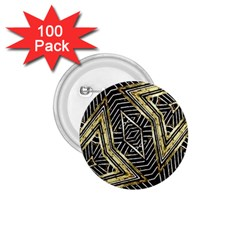 Geometric Tribal Golden Pattern Print 1 75  Button (100 Pack) by dflcprints
