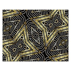 Geometric Tribal Golden Pattern Print Jigsaw Puzzle (rectangle) by dflcprints