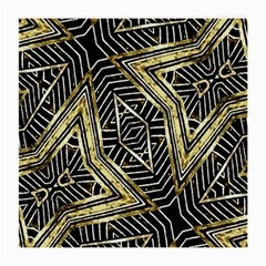 Geometric Tribal Golden Pattern Print Glasses Cloth (medium, Two Sided) by dflcprints
