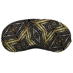 Geometric Tribal Golden Pattern Print Sleeping Mask by dflcprints
