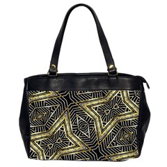 Geometric Tribal Golden Pattern Print Oversize Office Handbag (two Sides) by dflcprints