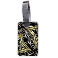 Geometric Tribal Golden Pattern Print Luggage Tag (two Sides) by dflcprints
