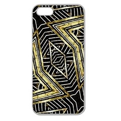 Geometric Tribal Golden Pattern Print Apple Seamless Iphone 5 Case (clear) by dflcprints
