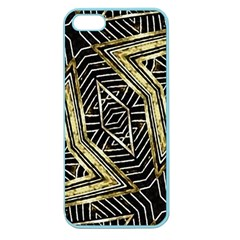 Geometric Tribal Golden Pattern Print Apple Seamless Iphone 5 Case (color) by dflcprints