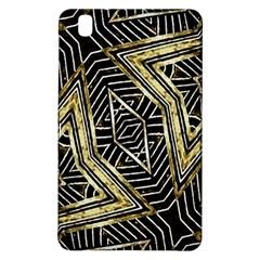 Geometric Tribal Golden Pattern Print Samsung Galaxy Tab Pro 8 4 Hardshell Case by dflcprints