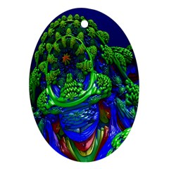 Abstract 1x Oval Ornament by icarusismartdesigns