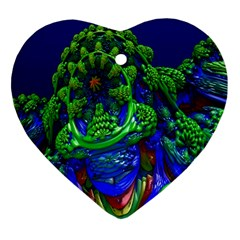 Abstract 1x Heart Ornament by icarusismartdesigns