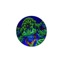 Abstract 1x Golf Ball Marker by icarusismartdesigns