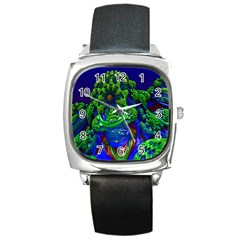 Abstract 1x Square Leather Watch by icarusismartdesigns