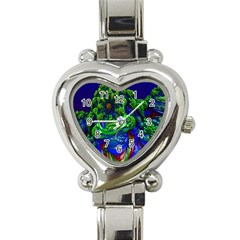Abstract 1x Heart Italian Charm Watch  by icarusismartdesigns