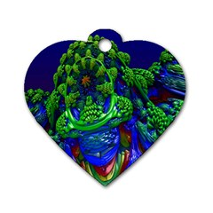 Abstract 1x Dog Tag Heart (two Sided) by icarusismartdesigns