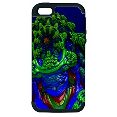 Abstract 1x Apple Iphone 5 Hardshell Case (pc+silicone) by icarusismartdesigns