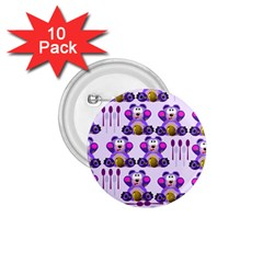 Fms Honey Bear With Spoons 1 75  Button (10 Pack) by FunWithFibro