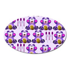 Fms Honey Bear With Spoons Magnet (oval) by FunWithFibro