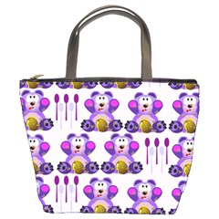 Fms Honey Bear With Spoons Bucket Handbag by FunWithFibro