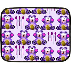 Fms Honey Bear With Spoons Mini Fleece Blanket (two Sided) by FunWithFibro