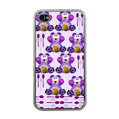 Fms Honey Bear With Spoons Apple Iphone 4 Case (clear) by FunWithFibro